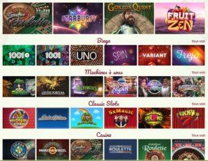les jeux de grattage sur Onlinebingo